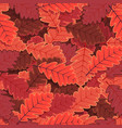 seamless winter oak tree leaves wallpaper vector image vector image