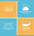 set cleaning and maid service label collection vector image vector image