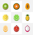 set of 9 editable dessert flat icons includes vector image vector image