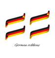 set of four modern colored german ribbons vector image vector image