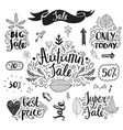 set of hand drawn autumn sale banners vector image