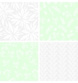 Set of monochrome seamless floral patterns vector image vector image
