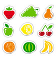 stickers of fruit vector image vector image