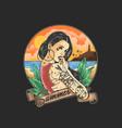 tattooed women are enjoying summer holidays vector image