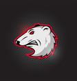 team sport logo mascot polar bears logotype vector image vector image
