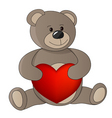 Teddy with valentine vector image