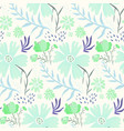 tender floral summer pattern with green flowers vector image