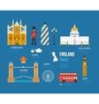 United Kingdom flat icons vector image vector image