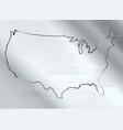 usa on brushed metal vector image vector image