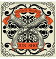 vintage weapon shop emblem vector image vector image