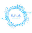 watercolor water splash round wreath hand drawn vector image