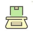 weiging cargo box icon design for shopping vector image