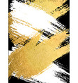 white and gold brushstroke design templates for vector image vector image