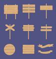 wooden signboards arrow vector image