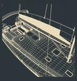 yacht hull drawings vector image vector image