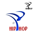 Hip hop dancer sporting emblem vector image