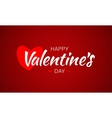 Happy Valentines Day Lettering Heart and Arrow vector image