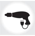 Drill tool icon black silhouette Element logo vector image