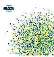 Abstract dot background using Brazil flag colors vector image vector image