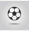 abstract single soccer ball icon vector image vector image