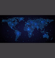 abstract world map on night sky vector image vector image