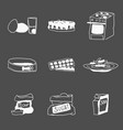 all baking ingredients and inventory doodles vector image