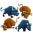 Angry Bulls vector image