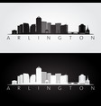 arlington virginia - usa skyline and landmarks vector image vector image