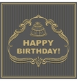 Birthday card The cake in the frame vector image vector image