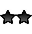 black stars sunglasses vector image vector image