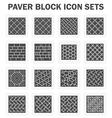 Block icon concrete vector image vector image