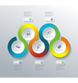 business pie chart for documents and reports vector image vector image