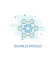 business process line concept simple line icon vector image vector image
