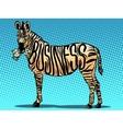 Business Zebra eats money vector image vector image