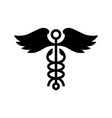 Caduceus wing snake medical logo icon