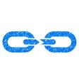 Chain Break Grainy Texture Icon vector image