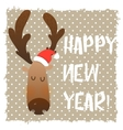 Christmas deer happy face Cartoon funny character vector image vector image