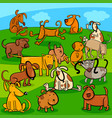 comics dogs cartoon characters group vector image vector image
