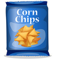 Corn chips vector image