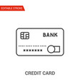credit card icon thin line vector image vector image