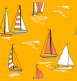 crouise yacht marine trip sea summer print vector image