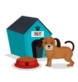 cute dog with house mascot icon vector image vector image
