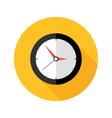 deadline clock flat circle icon vector image