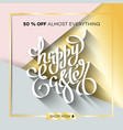 easter egg sale banner background template 12 vector image