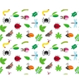 Funny cartoon insects and leaves background vector image vector image