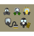 Gas Mask Icon Set vector image vector image