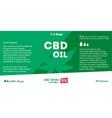 green cannabis oil cbd oil marijuana leaf vector image vector image
