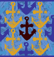 grunge seamless pattern with anchors vector image vector image