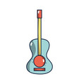 guitar acoustic intrument of music player vector image vector image