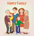 Happy Family - Parents with Kids and Grandparents vector image